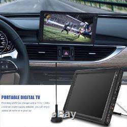 12'' TFT LED HD TV ATSC Television Digital Analog HDMI VGA Portable For Car Home