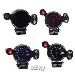 12V 3.5 LED Tachometer Gauge Auto Meter With Shift Light+Stepping Motor RPM Kit
