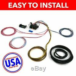 14 CIRCUIT UNIVERSAL WIRE HARNESS project car fairlane B&M rat rod willys jee