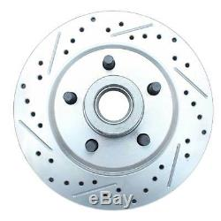 1961-72 FORD Galaxie Front & Rear Disc Brake Kit Black Booster Drilled Rotors