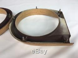 1961 FORD COUNTRY SQUIRE WAGON WOOD GRAIN TAIL LIGHT BEZELS TRIM Rings