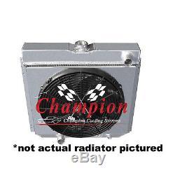 1964-1968 Ford Country Sedan/Squire CHAMPION 4 Row Radiator, Shroud & 16 Fan