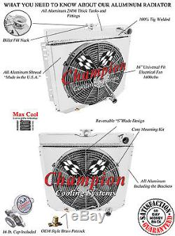 1964-1968 Ford Country Sedean/Squire Alum 4 Row Champion Radiator, Shroud & Fan
