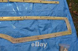 1966 ford country squire wood grain side molding complete set driver side left