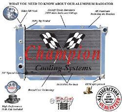 1969-1971 Ford Country Sedan/Squire 4 Row Aluminum CHAMPION Radiator & 12 Fans