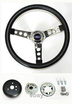 1984-89 Ford Mustang Grant Black Steering Wheel Ford Center cap 13 1/2