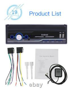 1DIN 7'' Retractable Stereo Radio Bluetooth GPS MP5 Player For Car Android 8.1