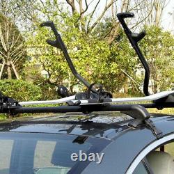 1Pair Aluminum Car SUV Roof Rail Luggage Rack Baggage Carrier Cross Universal
