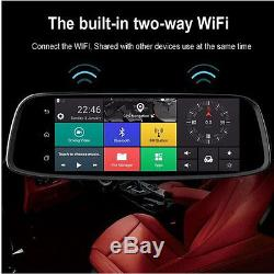 1pcs 4G Touch GPS Car DVR Camera Mirror GPS Bluetooth WIFI Android 5.1 Dual Lens