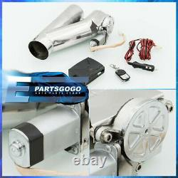 2.5 Inch Remote Control 63mm Electric Exhaust Muffler Valve Cutout System Dump