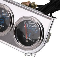 2 inch Voltmeter+Water Temp +Oil Pressure Auto Gauge Meter 3in1 Triple Gauge Kit