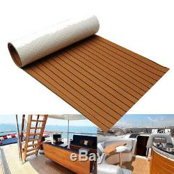 21.7X94 EVA Foam Teak Sheet Marine Flooring Boat Car Decking Self-Adhesive Pad
