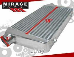 25 X 11.75 X 3 High Flow FMIC Turbo Intercooler For BMW E36 E39 E46 E90 E92