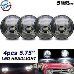 2pair 5.75 5-3/4 Inch H4 LED Projector Headlight H5006 H5001 For Ford Mercury