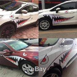 2x 59'' Full Size Shark Mouth Tooth Teeth Graphics Vinyl Car Sticker Decal Decor