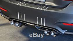 2x Glossy Carbon Fiber Car Exhaust Pipe Tail Quad Exhaust Muffler Tip-Right+Left