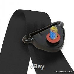 2x Universal 3 Point Retractable Auto Car Seat Belt Lap Shoulder Adjustable U. S