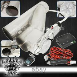 3 76mm Adjustable Electric Exhaust Catback Downpipe Cutout E-Cut Out Valve Set