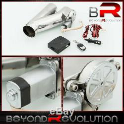 3 Electric Exhaust E-Cut Out/ Cutout Valve System +Remote For Catback Downpipe