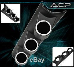 3 Hole Pillar Abs Black Holder Pod Gauge Air Fuel Ratio + Turbo Boost + Voltage
