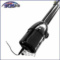32 Steering Column Street Hot Rod Stainless Tilt Floor Shift Chevy GM Black