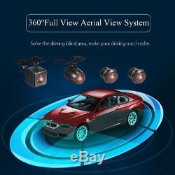 360° 4 Cams 7'' HD Monitor Car DVR Recording Panoramic Bird View Parking System