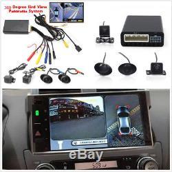 360° Bird View 4CH Camera Car Parking Helper Kit Cam DVR Recorder Alarm System