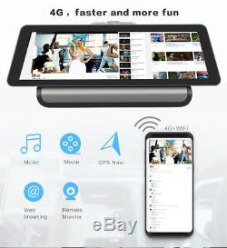 4G 10 FHD Touch Android 5.1 GPS Car DVR Dashboard Recorder BT WIFI FM +Camera
