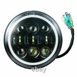 4PCS 5 3/4 5.75 Projector LED Headlights Sealed Beam Halo Ring Lamp Bulbs
