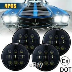 4X 5.75 5-3/4 inch Car LED Headlight Fit For Chevy GMC Corvette C1 C2 1963-1982