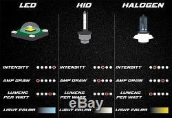 4X6 6k CREE 4000Lm LED Stock Glass / Metal Headlight H4 Light Bulb Headlamp Pair
