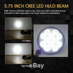 4pcs Projector 5.75inch led headlight 5 3/4 Sealed Beam Hi Lo Beam Power Round