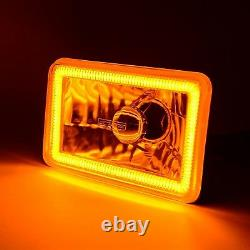 4x6 Switchback LED White DRL Halo / Amber Turn Signal Headlight Lamp Each