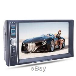6.6Double Din Car Stereo Radio HD DVD MP3 CD Player Touch Screen USB +CAMERA