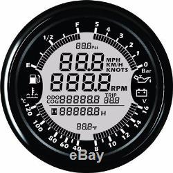 6in1 Multi-function 85mm Gps Speedometer Tachometer Water
