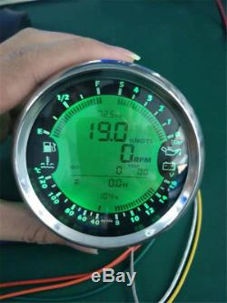 6in1 Multi-Function 85mm GPS Speedometer Tachometer Water Temp Fuel Level Gauge