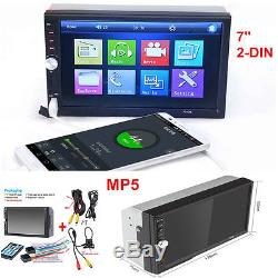 7 Double 2DIN Car SUV MP5 Player Bluetooth Touch Screen Stereo Radio HD +Camera