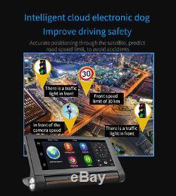 7 HD 1080P Dual Lens Car DVR +GPS Navi Bluetooth Dash Video Recorder Android 3G