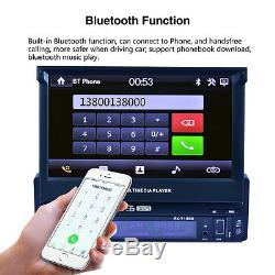 7 HD Touch Screen 1 DIN Car Bluetooth MP3 MP5 Player Rearview Radio FM AUX USB