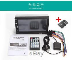 7''HD Touch Screen In-dash Car GPS Navigation Bluetooth Stereo MP5 Player FM AUX