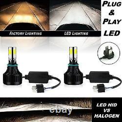 7 Stock Glass Lens/Metal 6v Headlight LED 6K 26/40w H4 Light Bulb Headlamp Pair