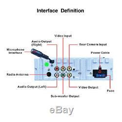 7in 1-DIN HD Car MP5/3 Player Folding Touch Screen Bluetooth Radio FM AUX SD USB