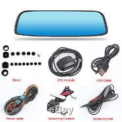 8 4G GPS Bluetooth WIFI Rear View Mirror DashCam Car DVR Backup Camera G-Sensor