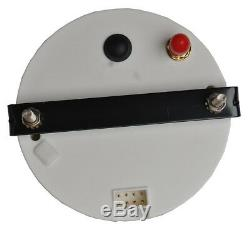 85mm GPS MPH Kmh Analogue Speedometer Digital Odo Gauge Red LED Black Bezel Auto