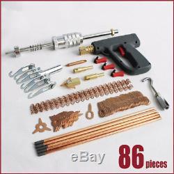 86 Pcs Car SUV Dent Repair Puller Spot Welder Welding Machine Hammer Removal Kit