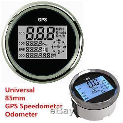 9-32V Waterproof GPS Digital Speedometer Odometer Gauge For Car Truck Marine85mm
