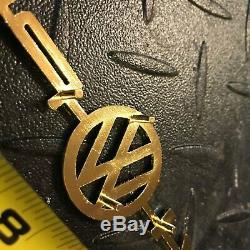 914 Porsche 914-vw-porsche Gold Emblem Decklid German # 91455911110 Volkswagen