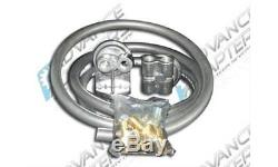 Advance Adapters 716084 Oil Filter Relocation Kit 96 Hose Length Ford V8 Kit
