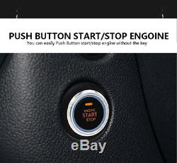 Auto Car Alarm Security System Keyless Entry Push Button Remote Engine Start Kit