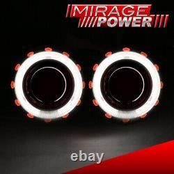 Bi-Xenon Projectors Headlights Retrofit Kit Hid Dual Halo Devil Pearl Eyes